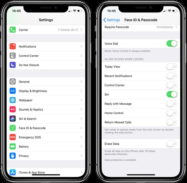 iPhone kilit ekranı güvenliği
